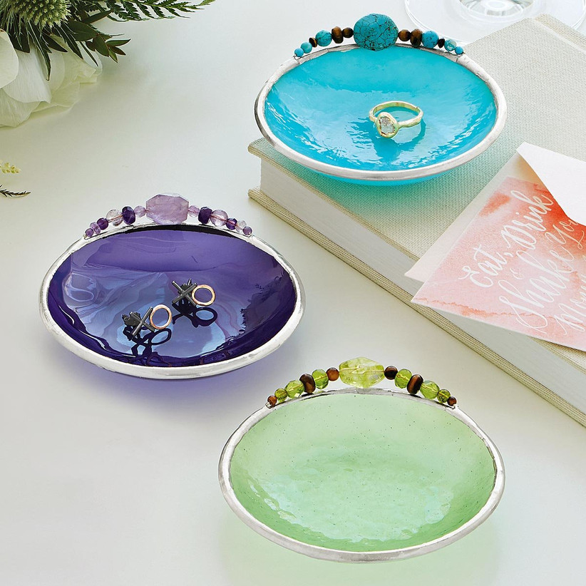 Colorful birth month ring dishes