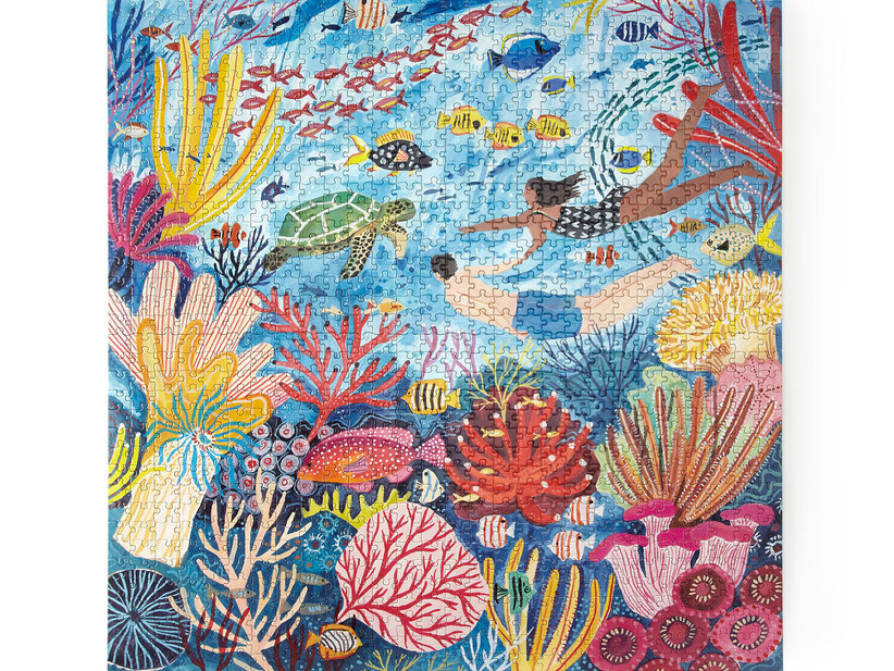Colorful under sea coral reef puzzle traditional 35th anniversary gift