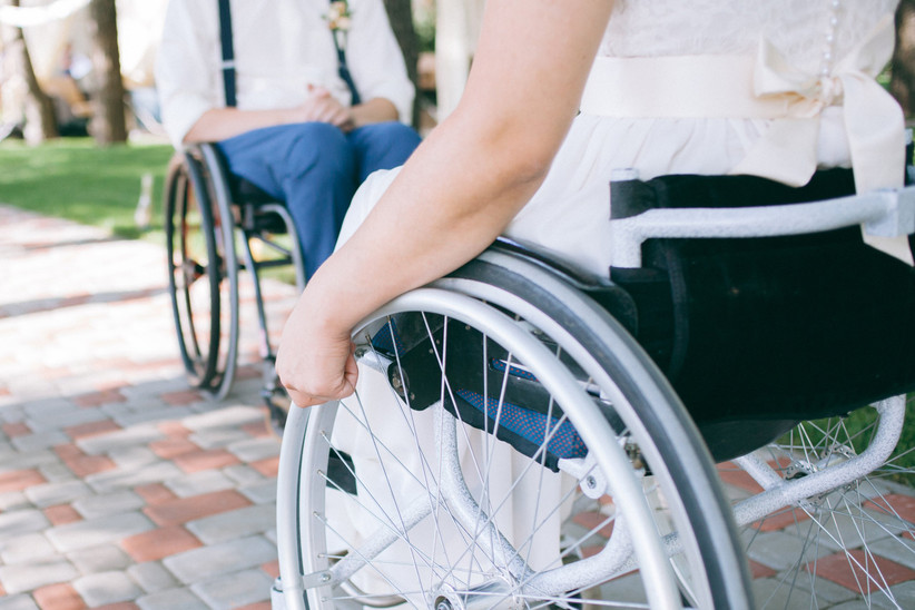 wedding guests who are in wheelchairs