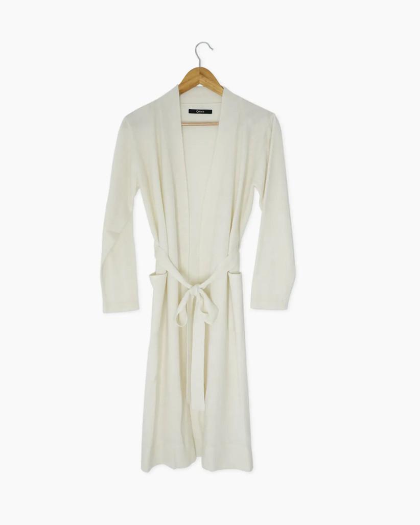 10 year anniversary gift ivory cashmere robe
