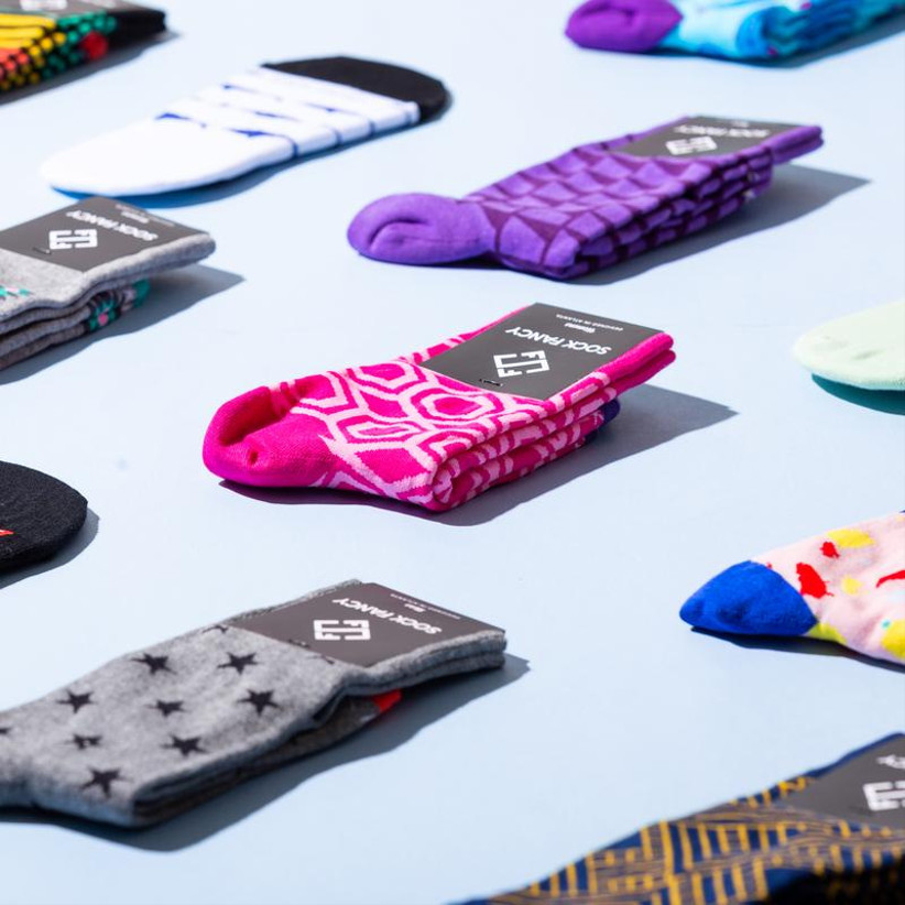 Colorful and patterned socks