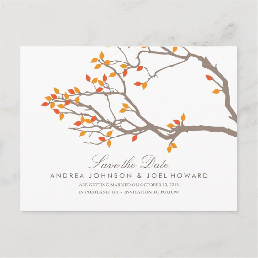 fall save the dates branches