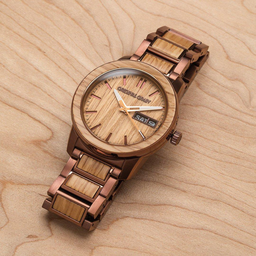 Wooden watch father of the bride gift