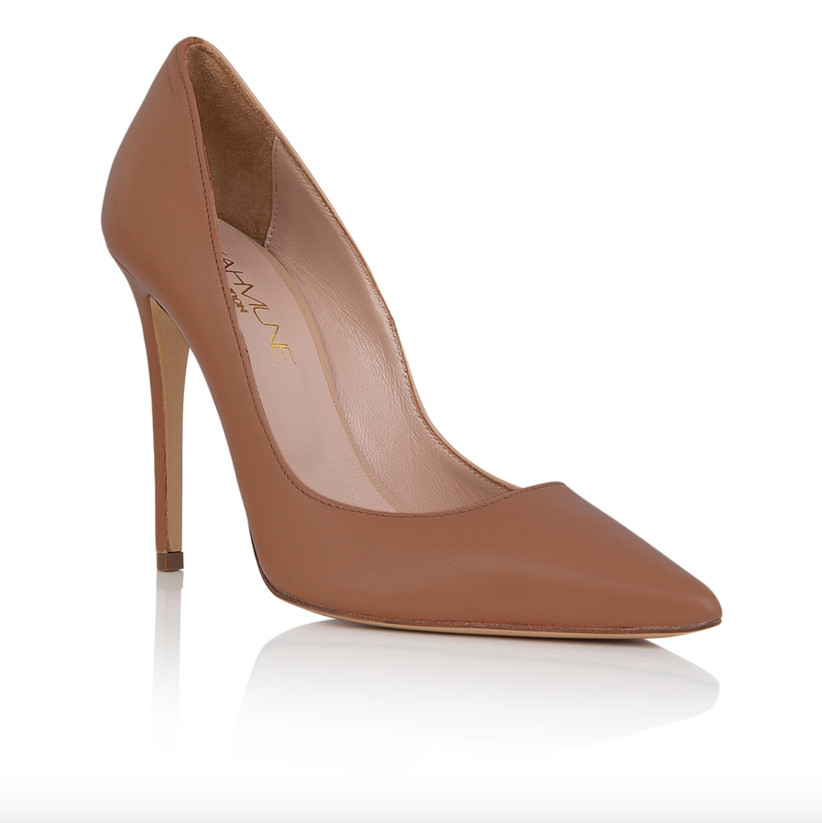 Wedding Guest Shoes nude leather pumps