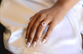 34 Non-Diamond Engagement Rings That Still Have Plenty of Sparkle