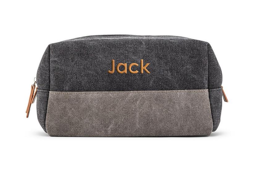 Personalized toiletry bag groomsmen gift idea