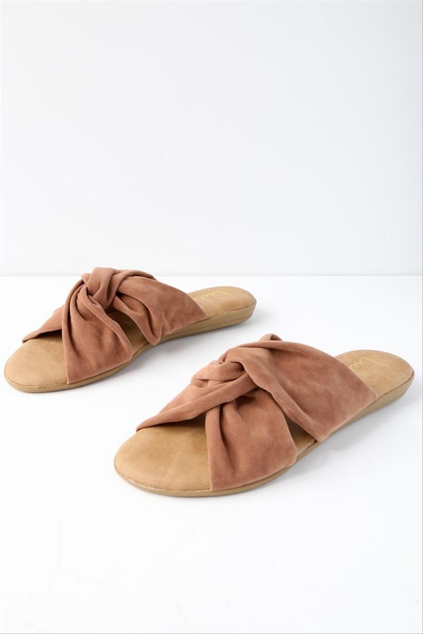 suede beach wedding sandals camel neutral color