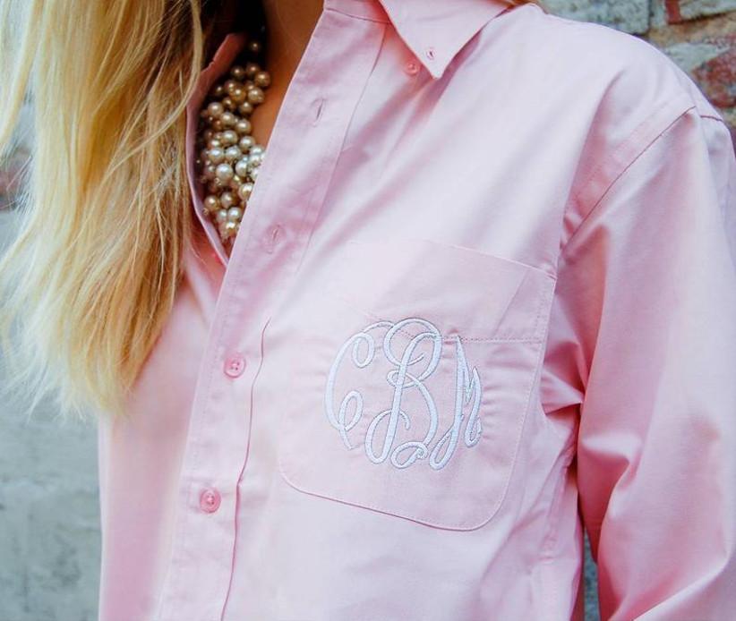 BLACK Boyfriend shirt gift for her fennel shirt beach wear wedding day shirt wedding monogram button down shirt Sleep shirt Women