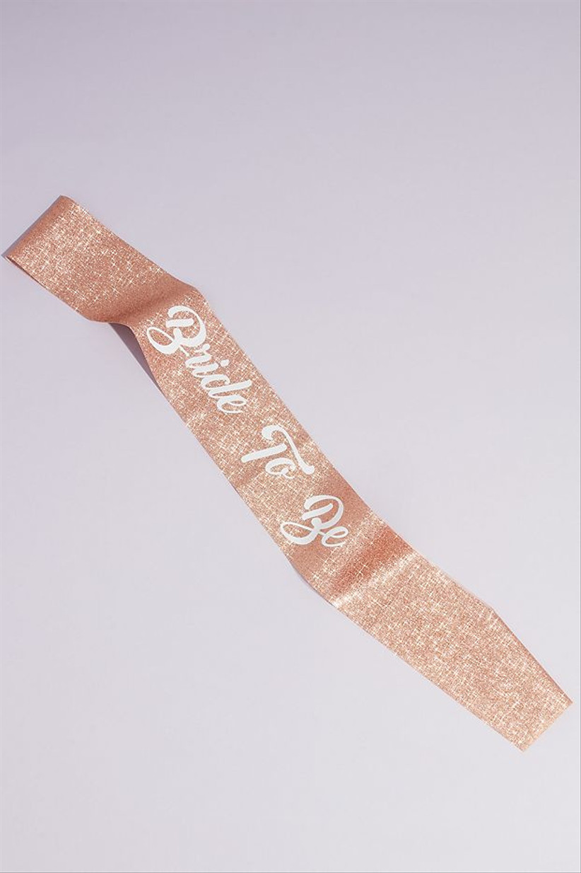 rose gold sequin bachelorette party sash with