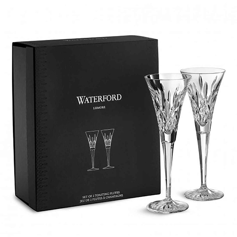 Waterford crystal wedding champagne flute set