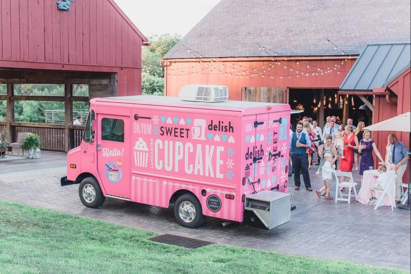 pink lancaster cupcake food truck