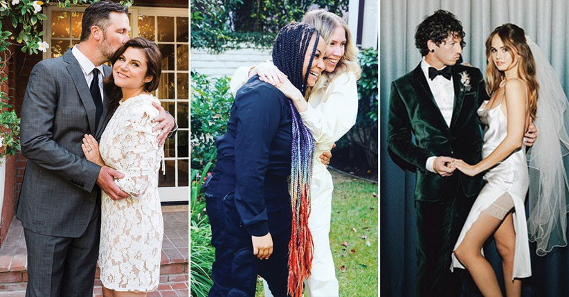 Tiffani Thiessen and Brady Smith; Raven-Symoné and Miranda Pearman-Maday; Debby Ryan and Josh Dun