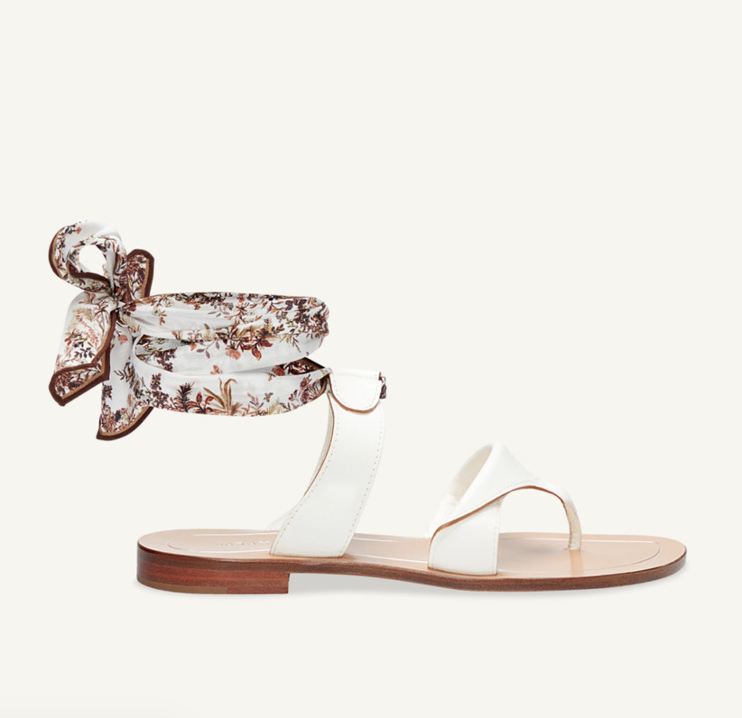 Wedding Guest Shoes flat sandals with tie
