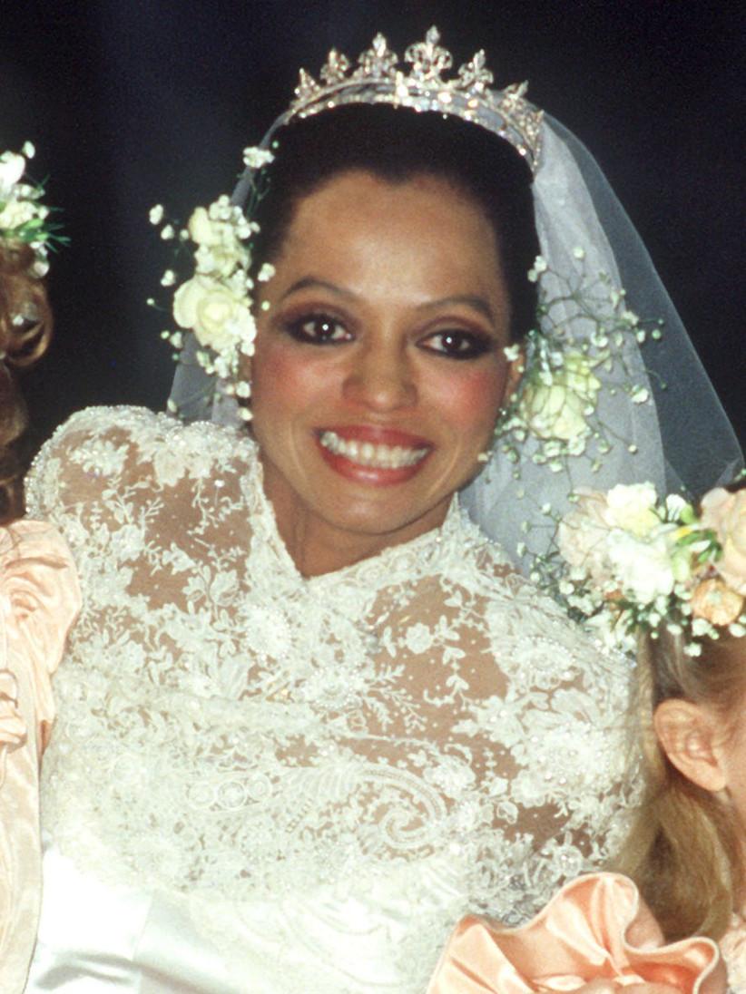 diana ross wedding makeup