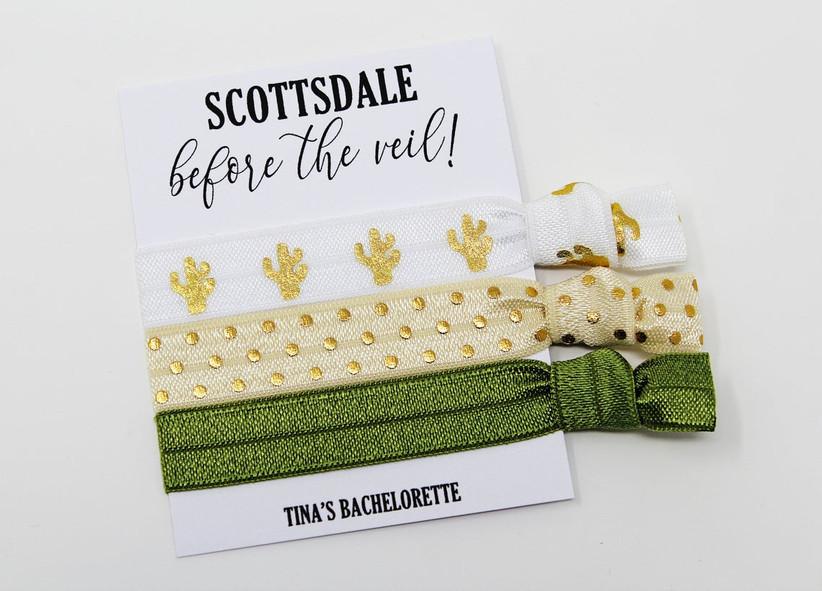 Scottsdale Before the Veil cactus theme hair ties