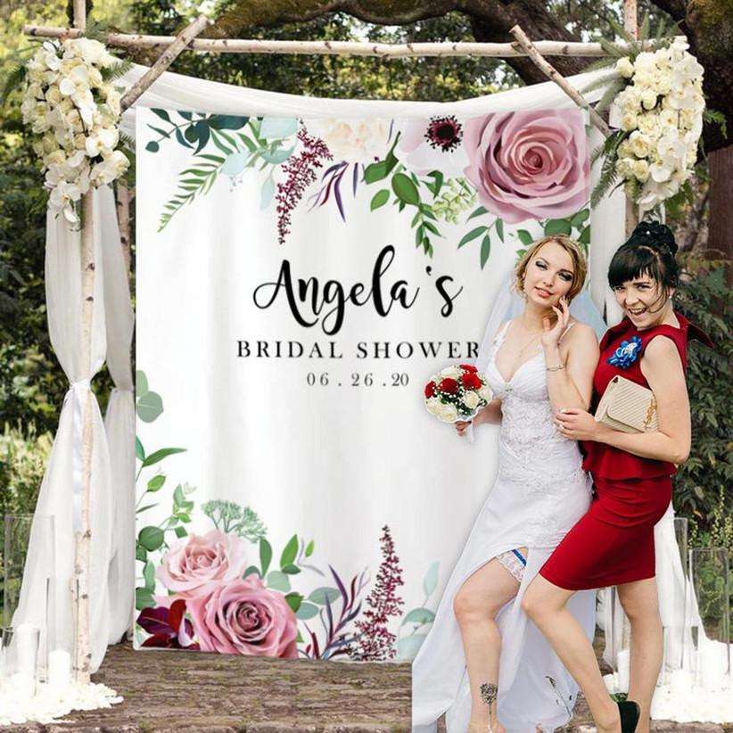 bridal shower photo backdrop