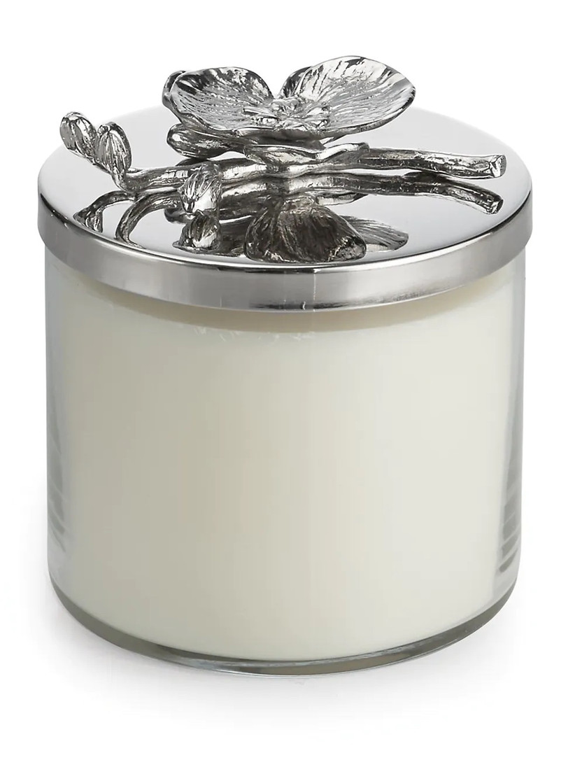 saks fifth avenue white orchid candle for 14th year wedding anniversary gift