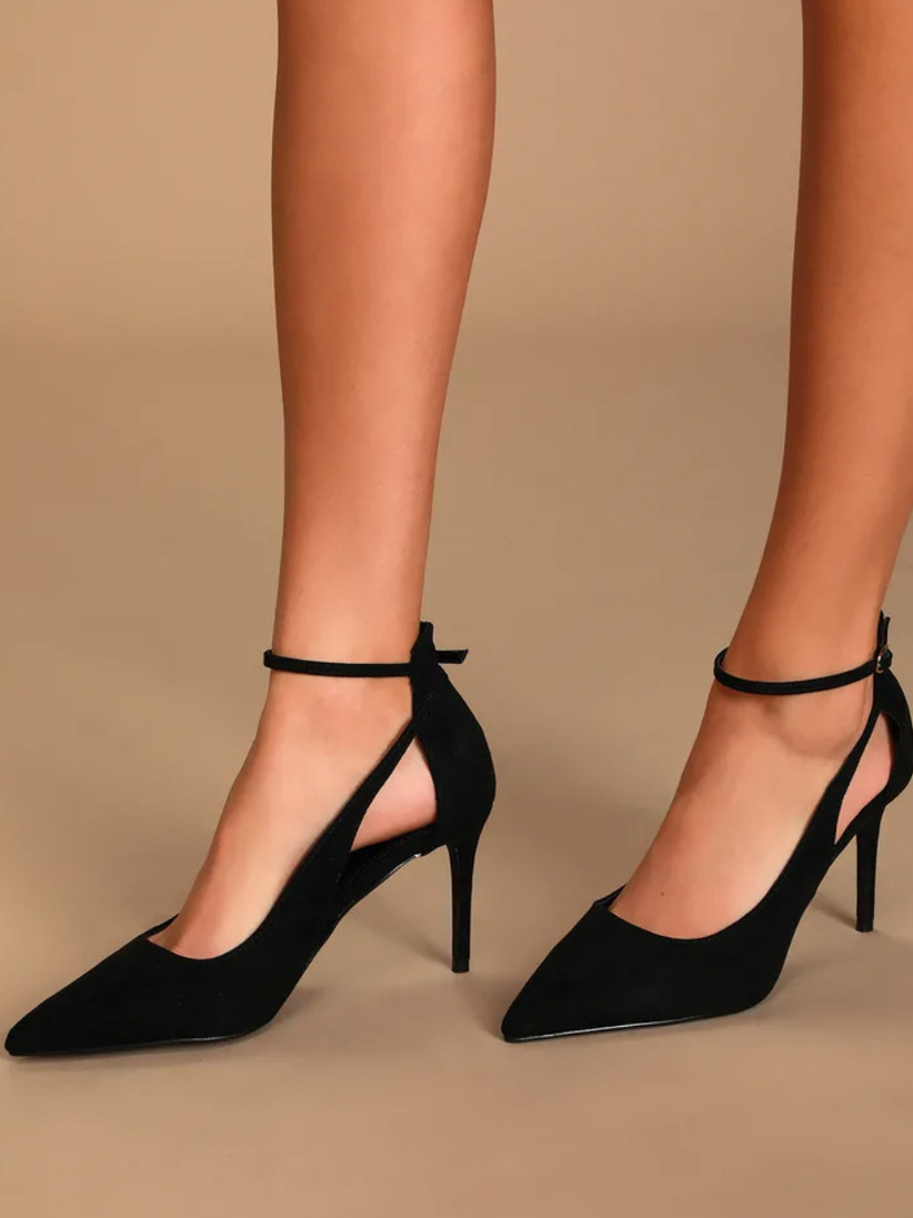 Wedding Guest Shoes strappy black pumps