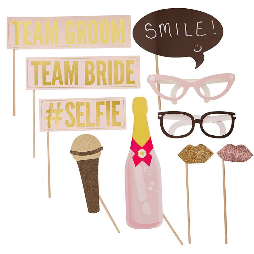 glam photo booth props