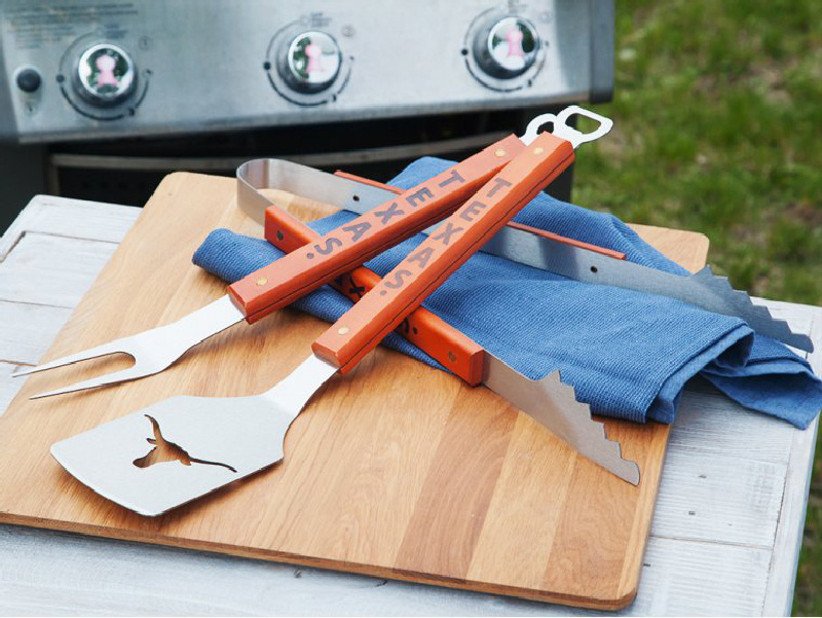Sport-themed barbecue tool set father of the groom gift