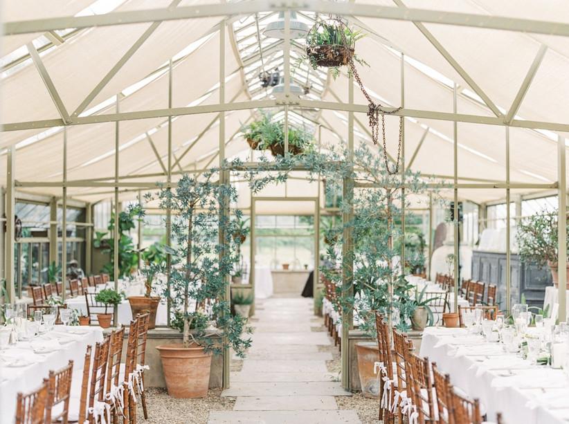 spring wedding idea conservatory garden wedding venue