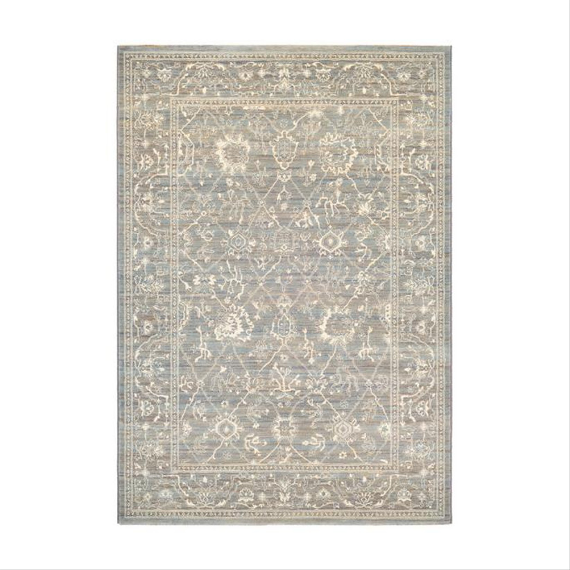frontgate white and grey area rug for 13th year wedding anniversary gift