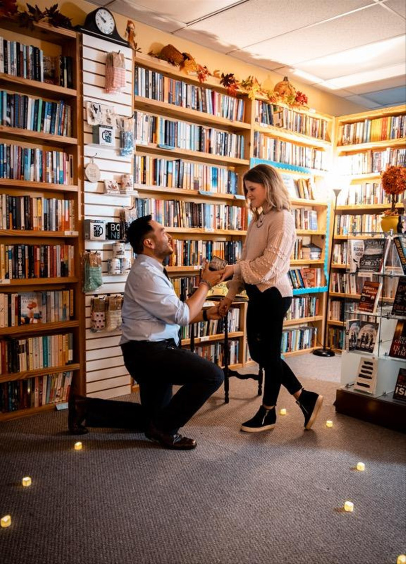 proposal at bookstore