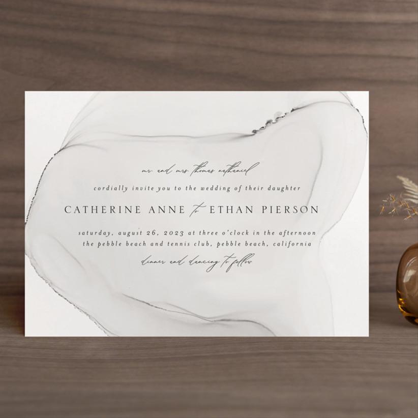 modern winter wedding invitations