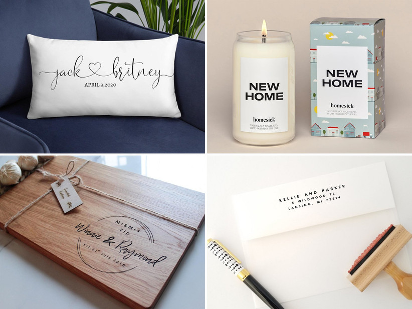 Selection of housewarming gifts for couples