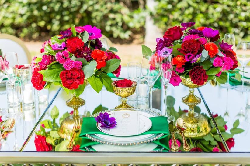 bright floral centerpieces