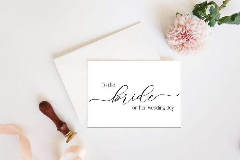 To the Bride on Her Wedding Day card from maid of honor to bride