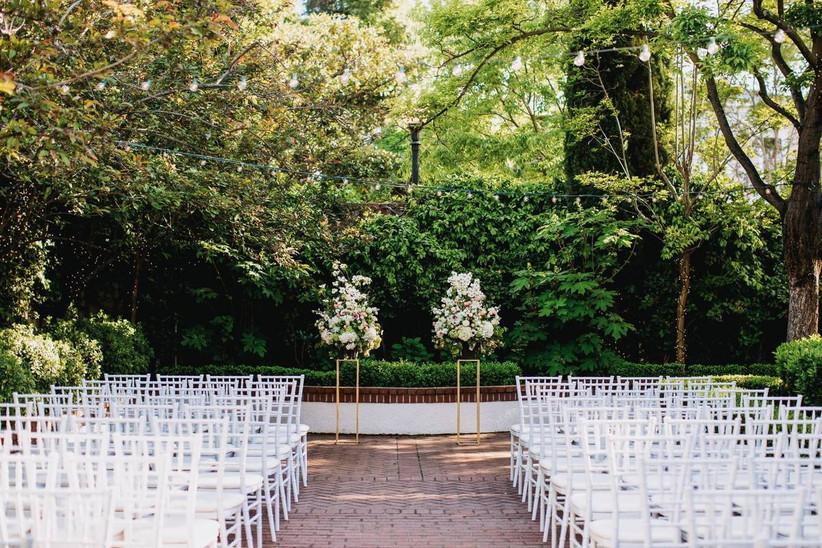 vizcaya sacramento outdoor wedding ceremony