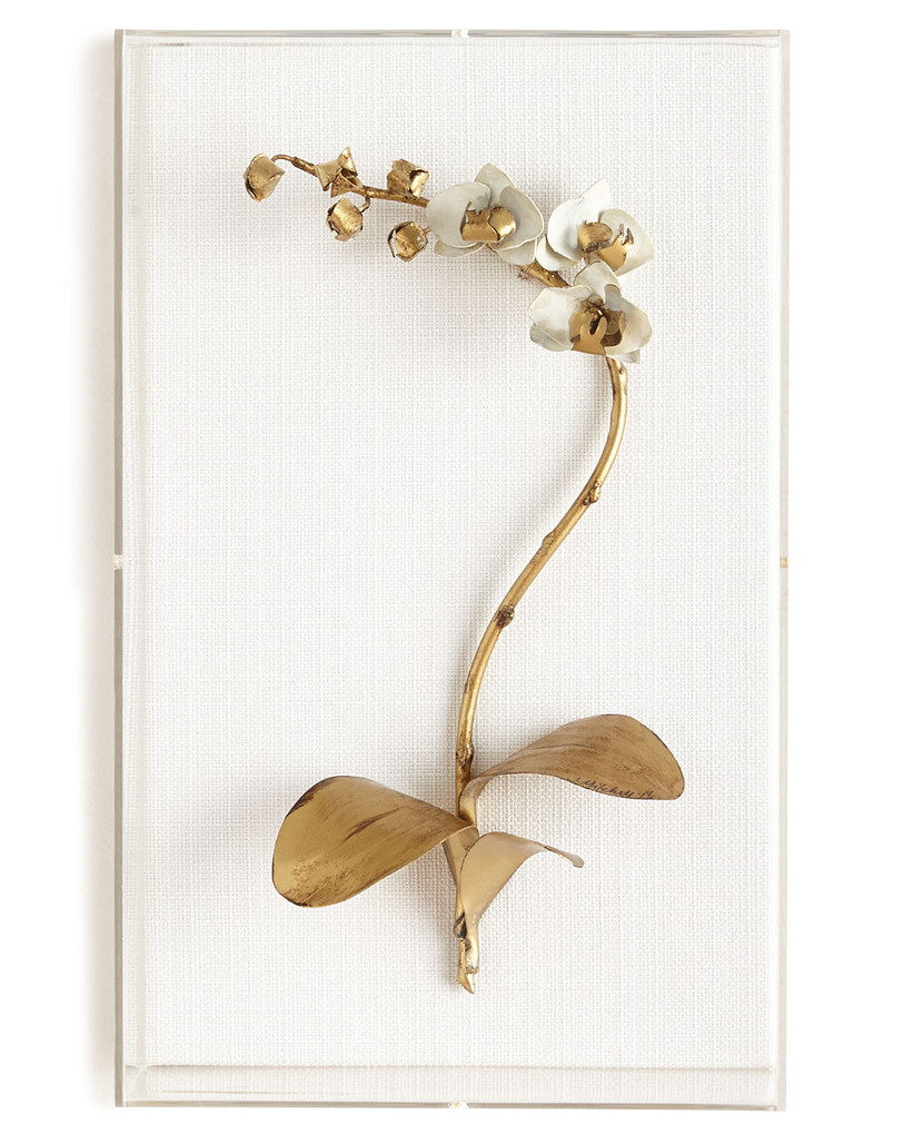 tommy mitchell gold orchid sculpture for 12th year wedding anniversary gift