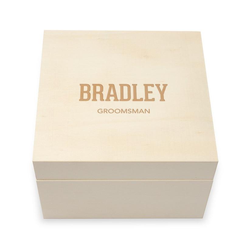 DIY groomsman proposal box