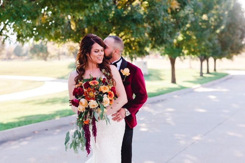 couple outdoor wedding