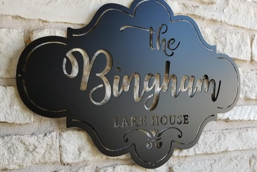 etsy metal family sign for 11th year wedding anniversary gift