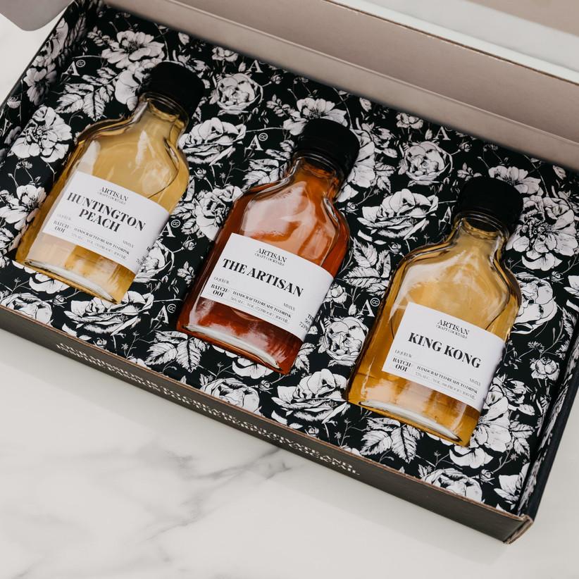 Gift box of three dessert cocktails