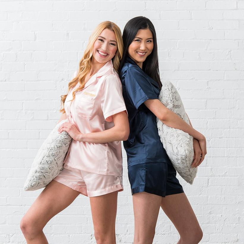Personalized pajamas bridesmaid box idea