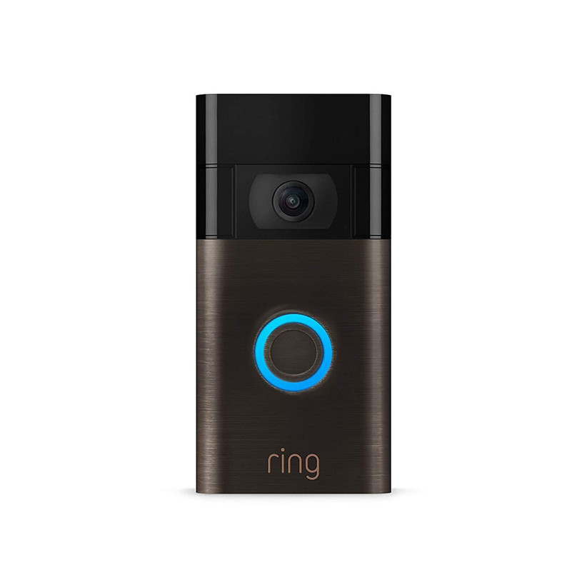 Smart video-enhanced doorbell gift for couple's new home