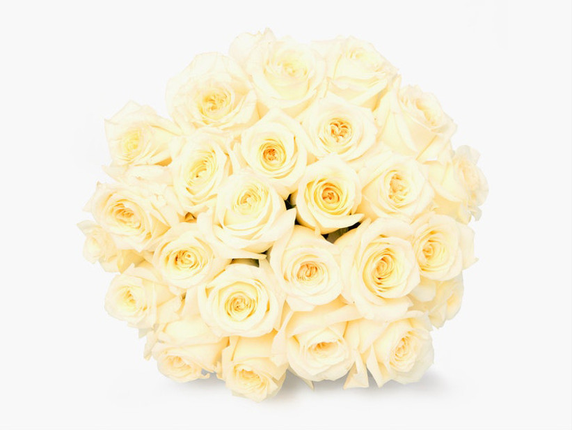 bouquet of ivory roses