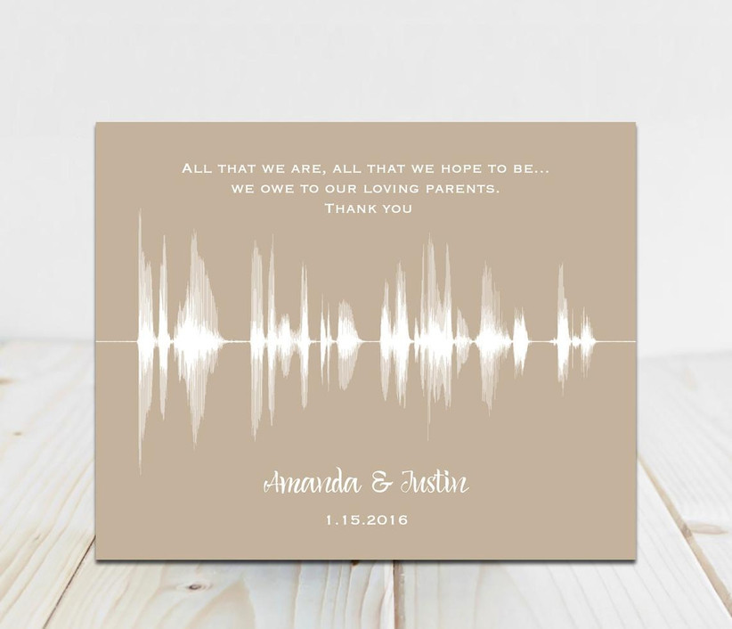 Sound art print mother of the groom gift idea