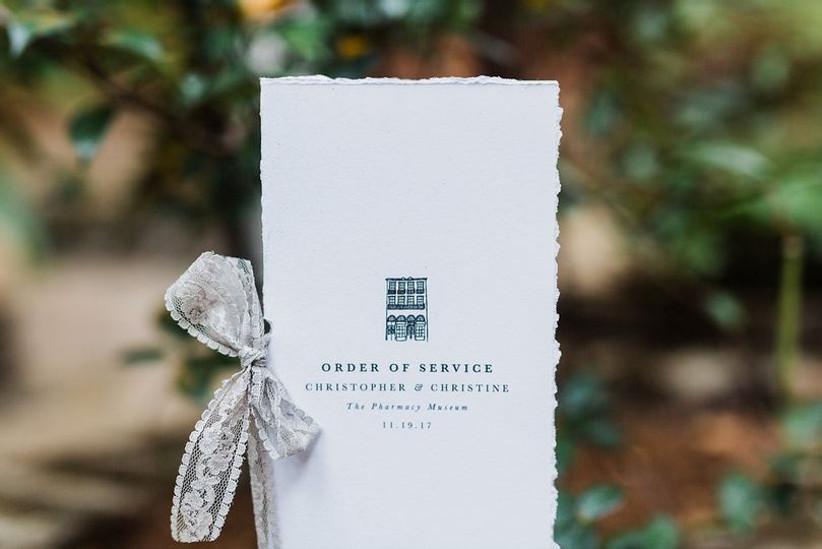 wedding stationery list wedding ceremony programs