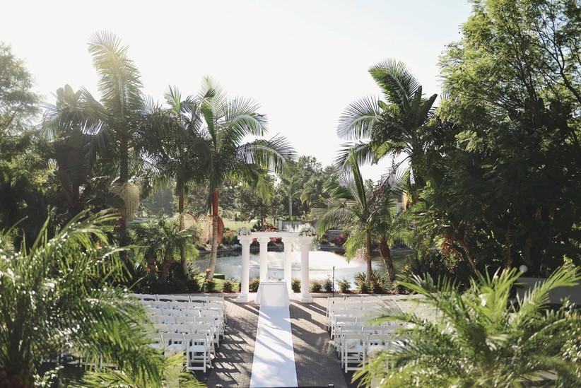 tropical wedding ceremony