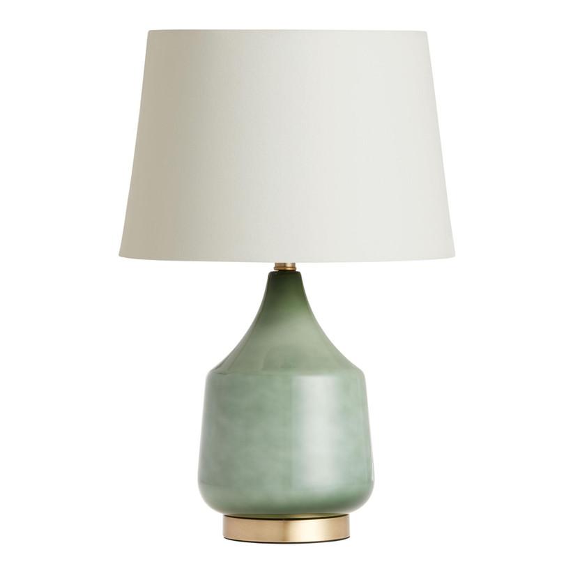 world market green lamp base for 12th year wedding anniversary gift