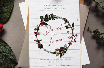 21 Winter Save the Dates Perfect for Your Snowy Celebration