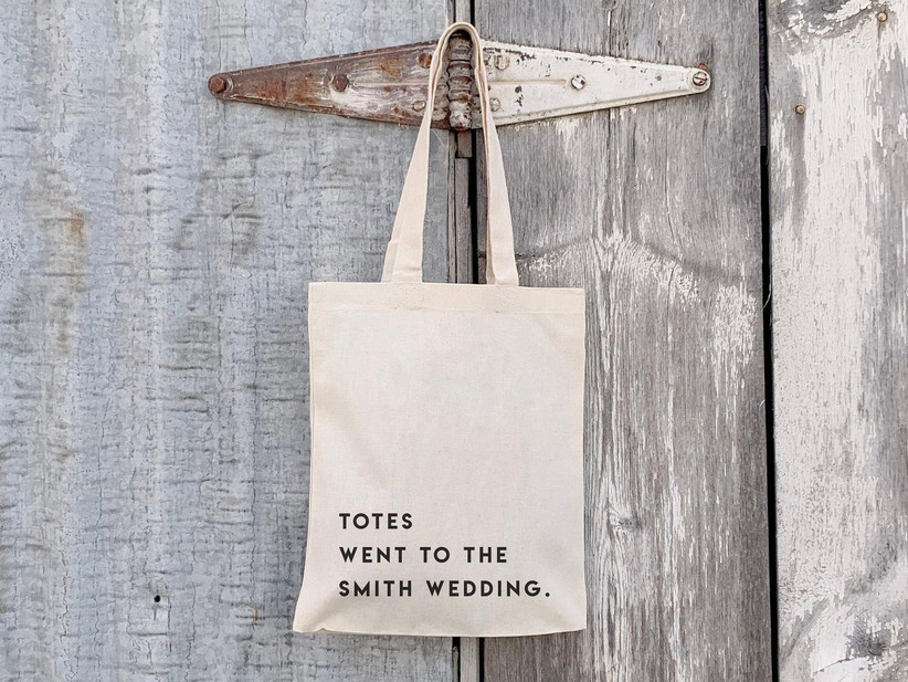 reusable tote wedding welcome bag idea