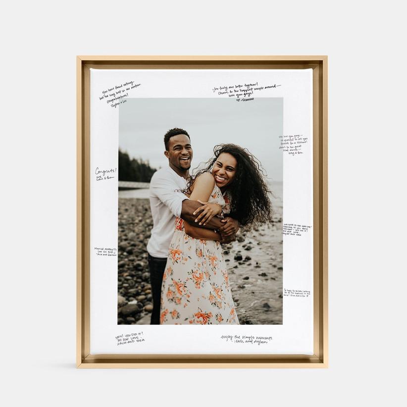 Photo frame unique wedding guest book alternative