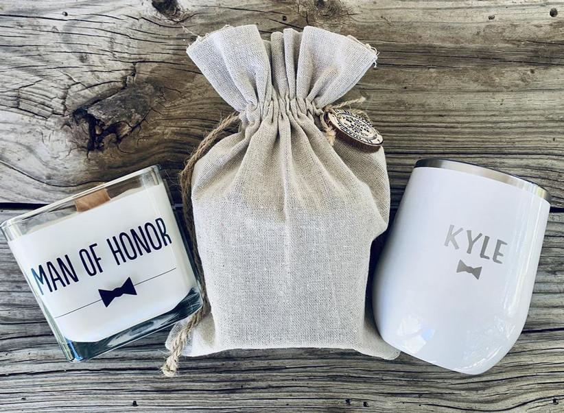 Man of honor proposal gift set