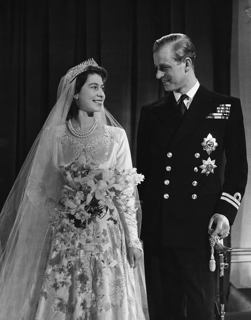 Queen Elizabeth II wedding dress