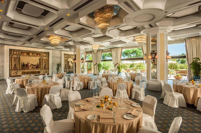 glamorous ballroom italy wedding venue in rome